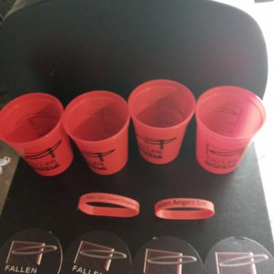 Custom Fallen Angelz ENT Cups/Coasters/Wristbands Combo