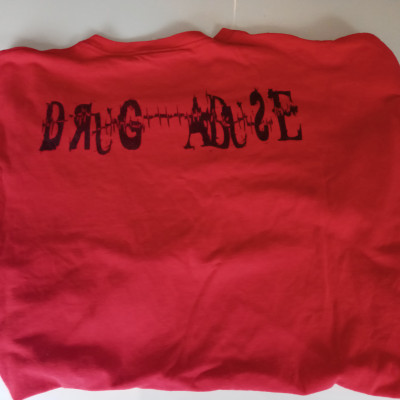 CLEARANCE - Dice Shittalka/Drug abuse 2XL Red/Black T-Sshirt