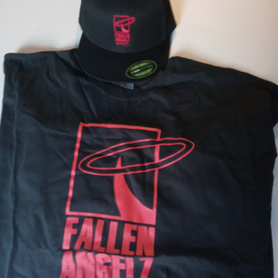 CLEARANCE - Fallen Angelz ENT Fitted Hat & 2XL T-Shirt
